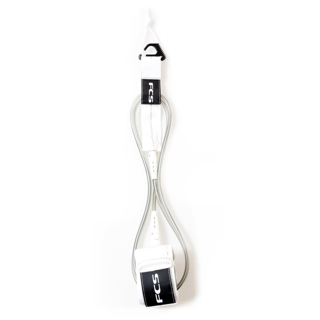 FCS Essential Regular Leash - White