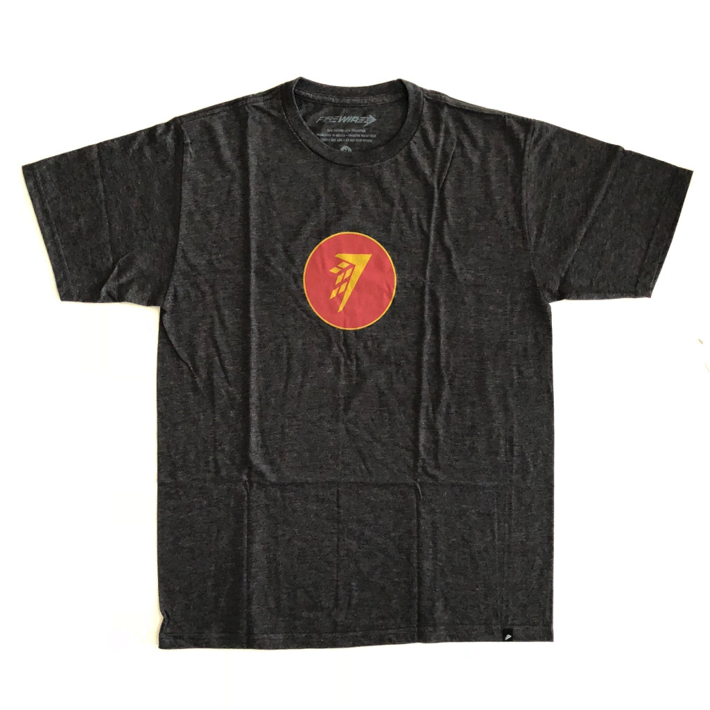 Firewire Circle Icon T-Shirt Charcoal Heather