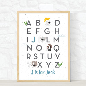 AUSSIE ANIMAL ABC PRINT