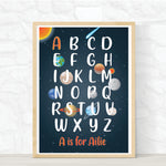 Load image into Gallery viewer, Custom alphabet nursery space print