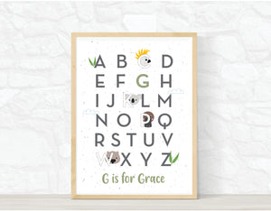 AUSSIE ANIMAL ALPHABET PRINT