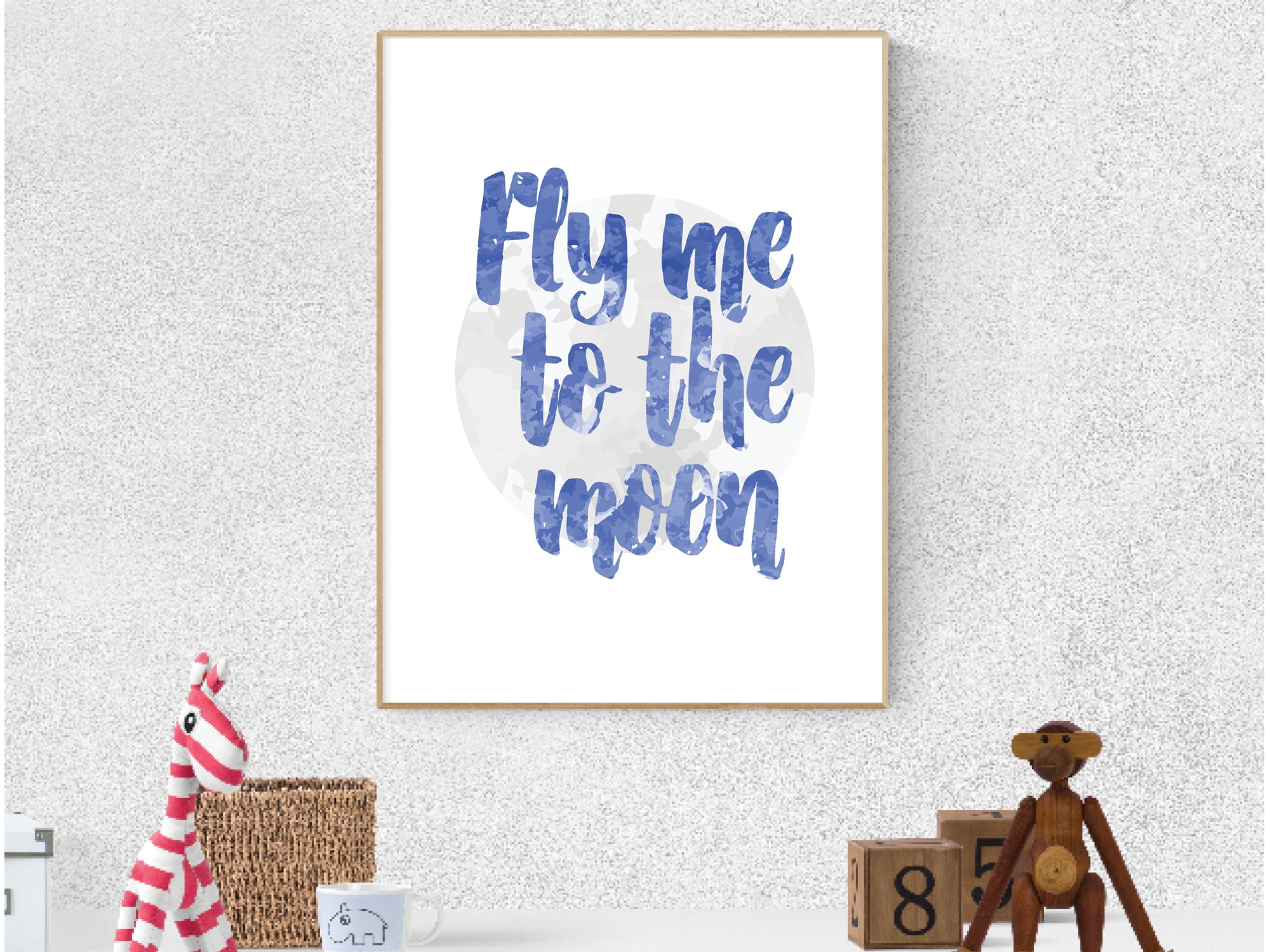 Fly me to the Moon print and download