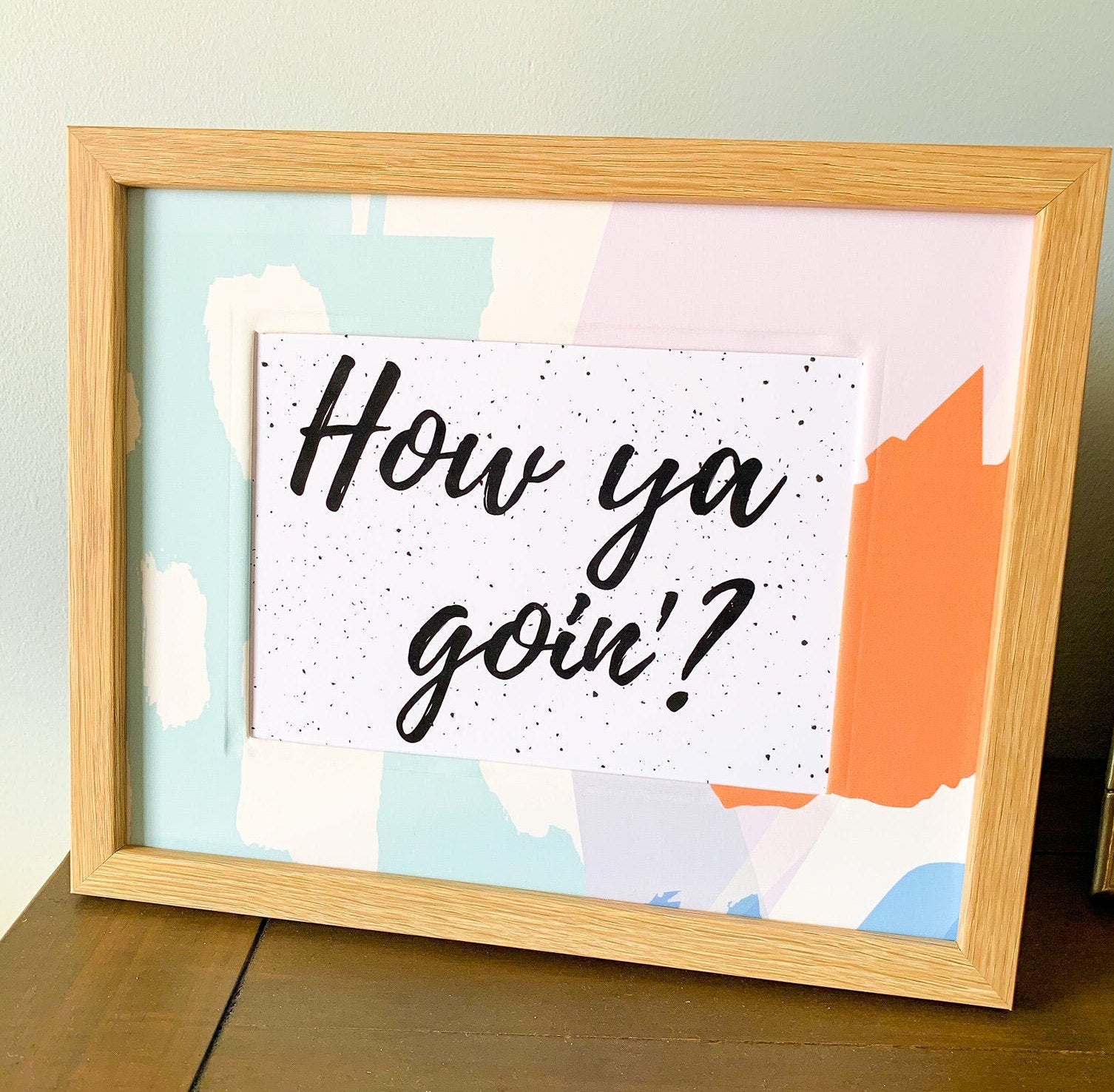 Aussie sayings - How ya' goin print