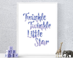 Twinkle Twinkle Little Star nursery download