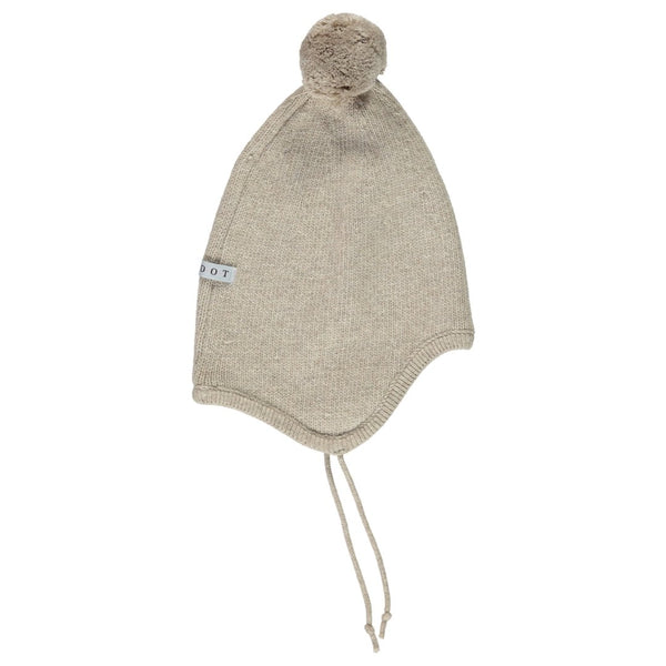 Aviator hat beige wool