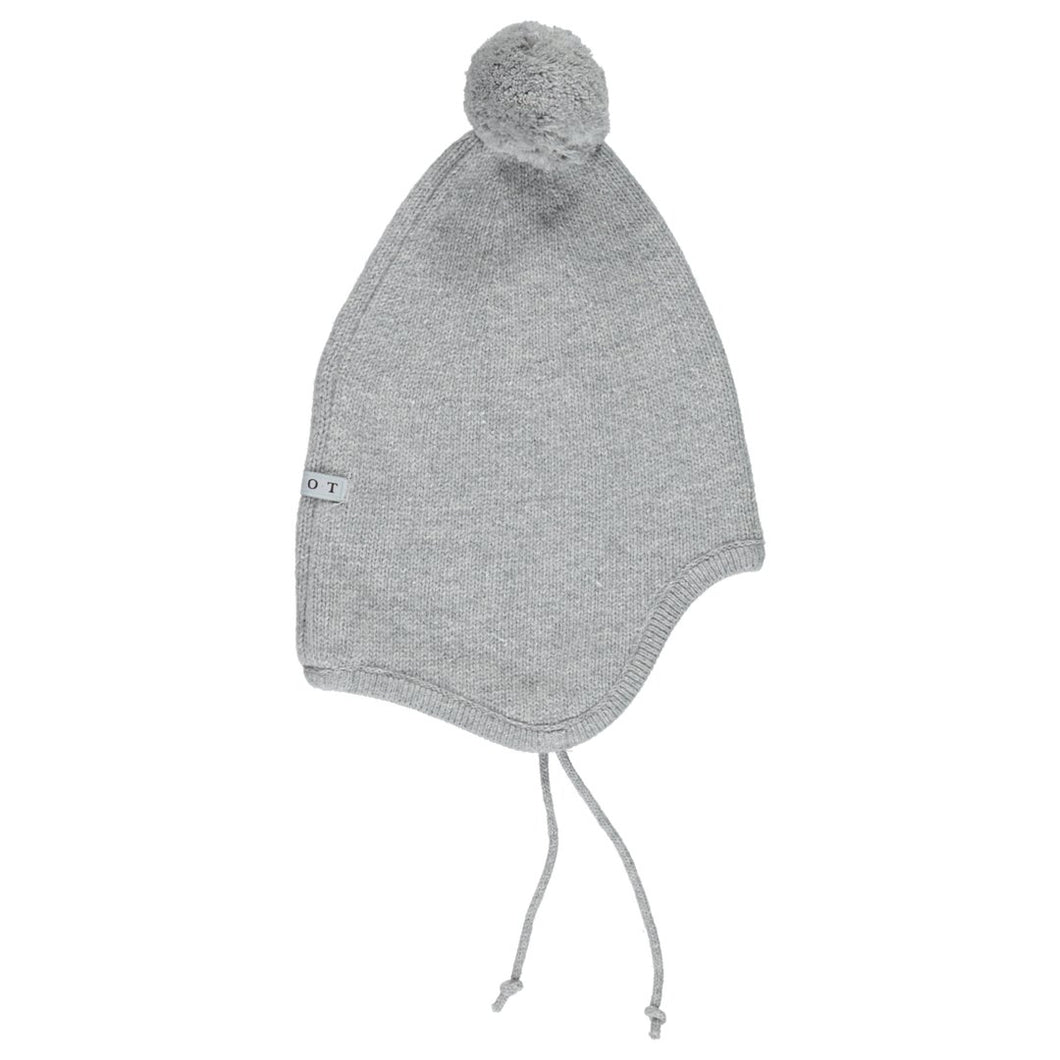 Aviator hat grey wool