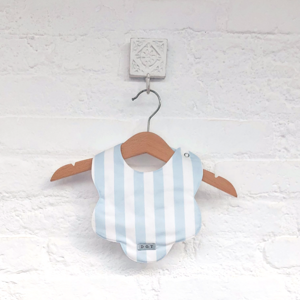 Bib blue stripes print