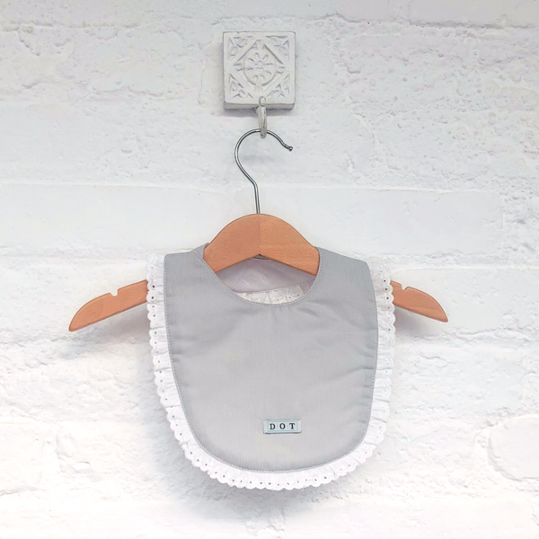 Bib grey embroidery