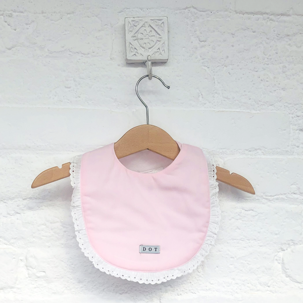 Bib pink embroidery