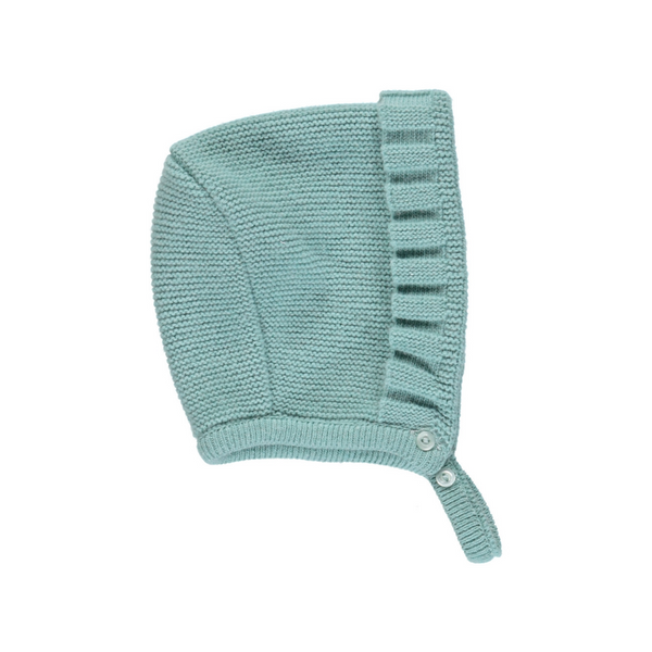 Bonnet green wool