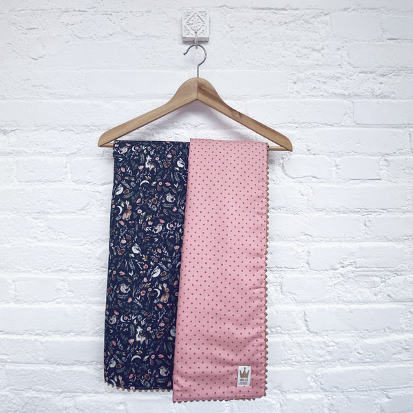 Reversible blanket - Dreamy print blue & pink