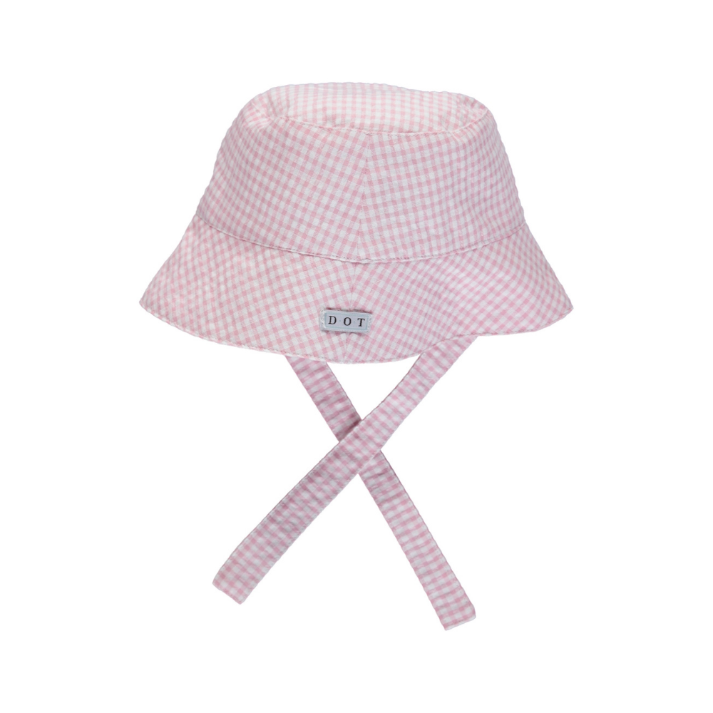 Hat pink check
