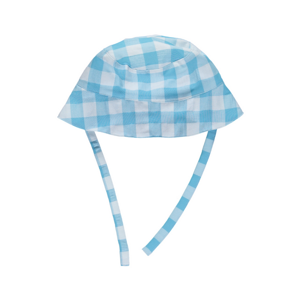 Hat turquoise check