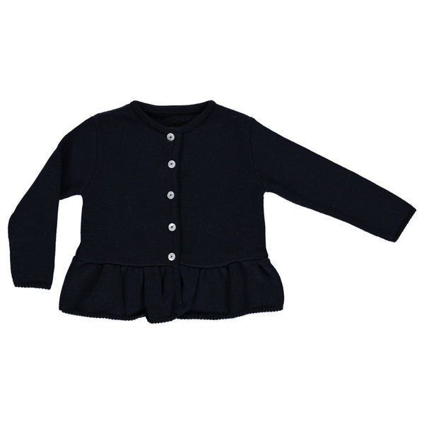 Sandra navy wool