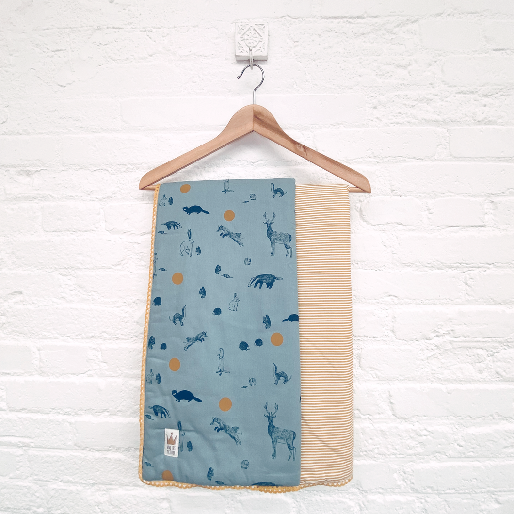 Reversible blanket - Woodland friends