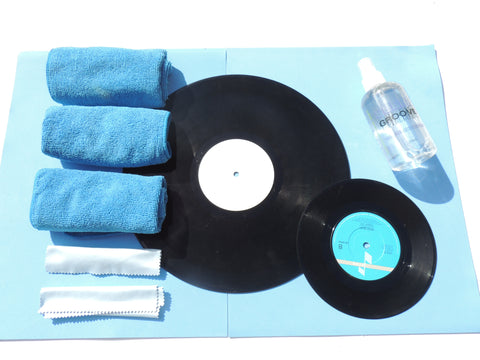 Vinyl Cleaner kit - Spray Clear Groove and LP cloths
