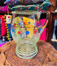 Load image into Gallery viewer, Jwg Wydr Retro Sdreips a Spotiog / Retro Stripes and Spots Glass Jug