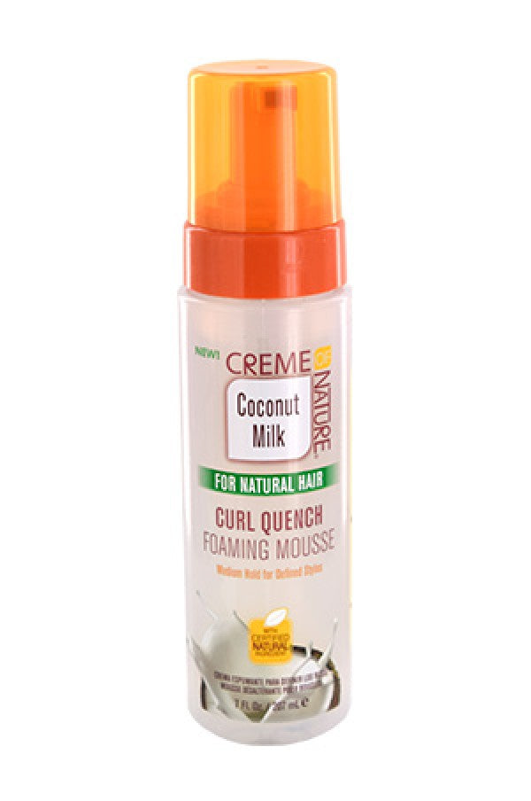 Creme Of Nature Coconut Milk Curl Quench Foaming Mousse 7oz.