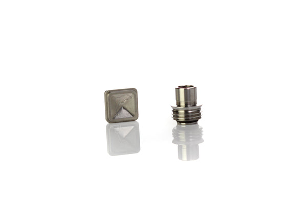V2 FFlush Flipper2 SQUARE Button/Tip Set - Titanium