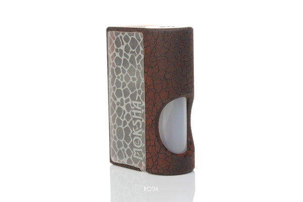 Moksha V1 Squonk Mech Mod - Red Crack Engraved