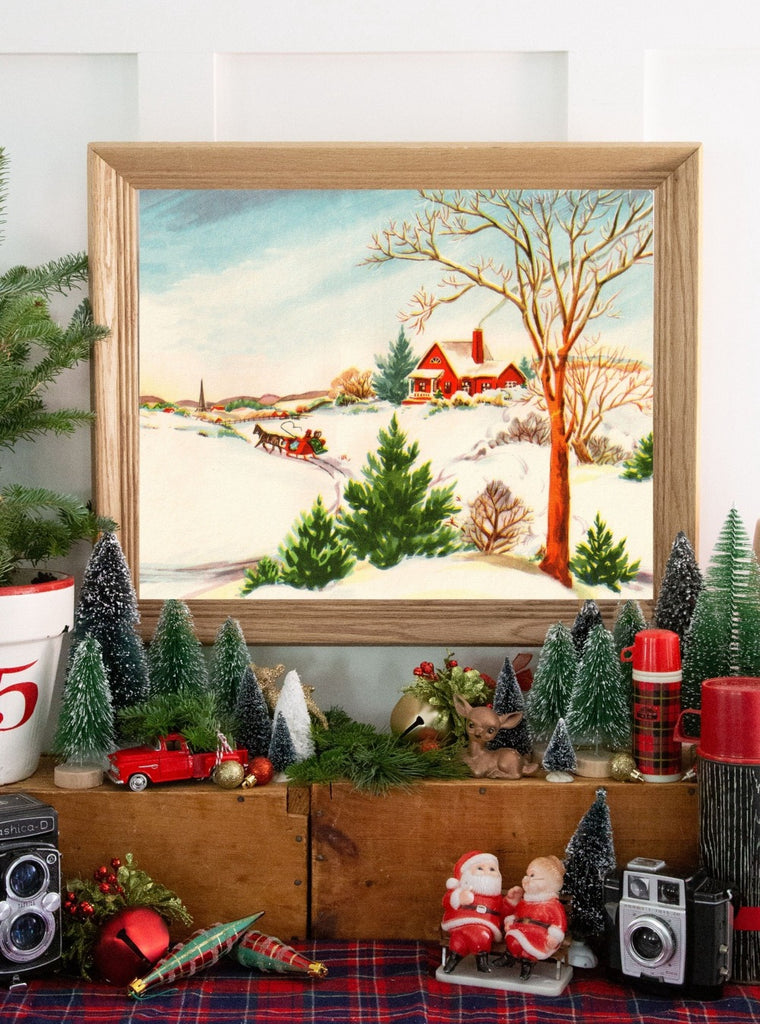 Country Christmas Vintage Holiday Print Collected Curated Collected And Curated