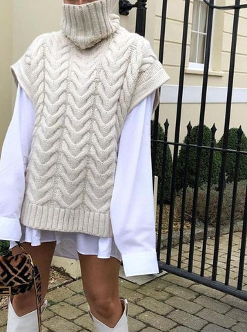 large knitted vest