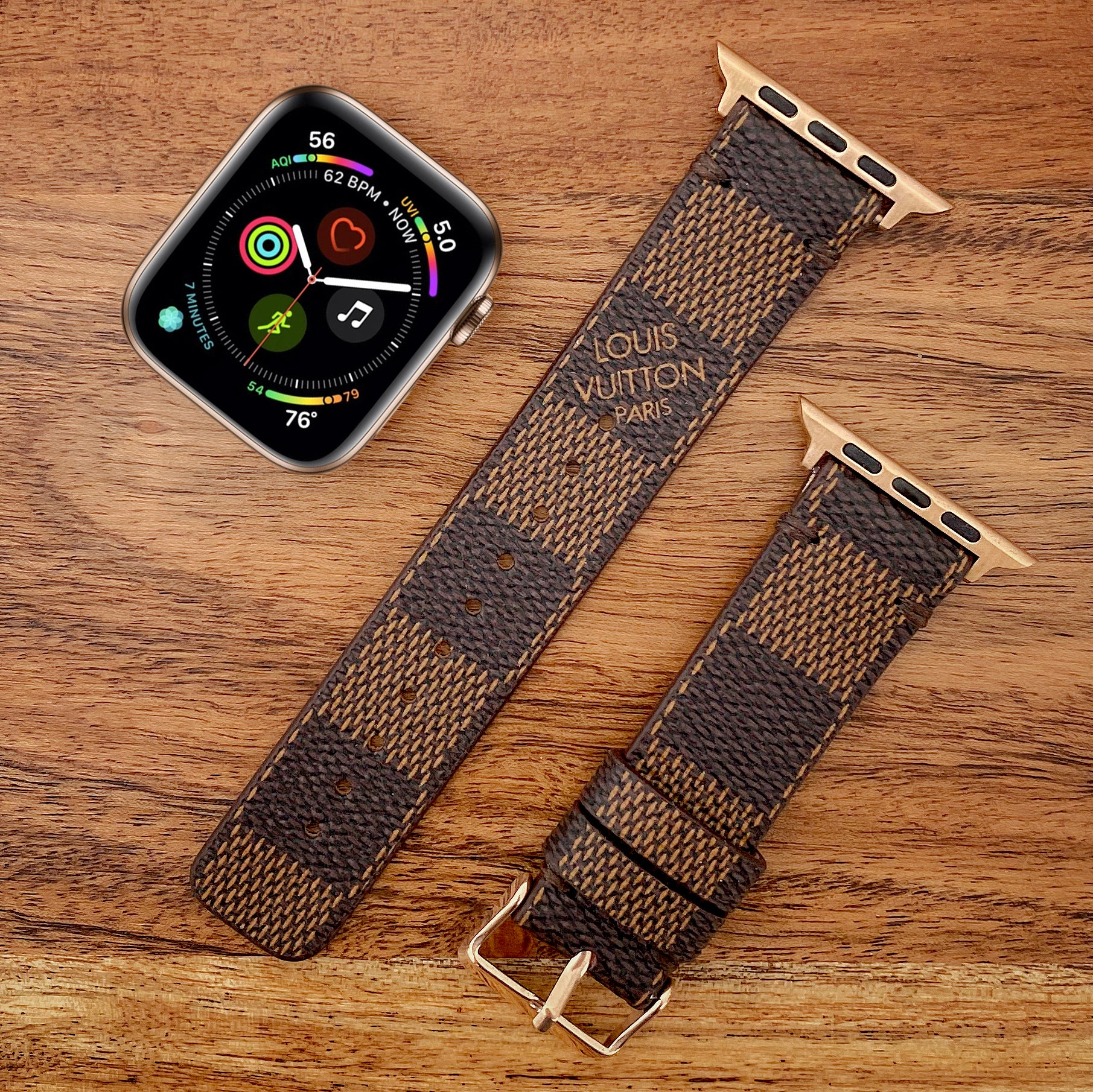 Handmade Upcycled Louis Vuitton Damier Ebene Apple Watch Band