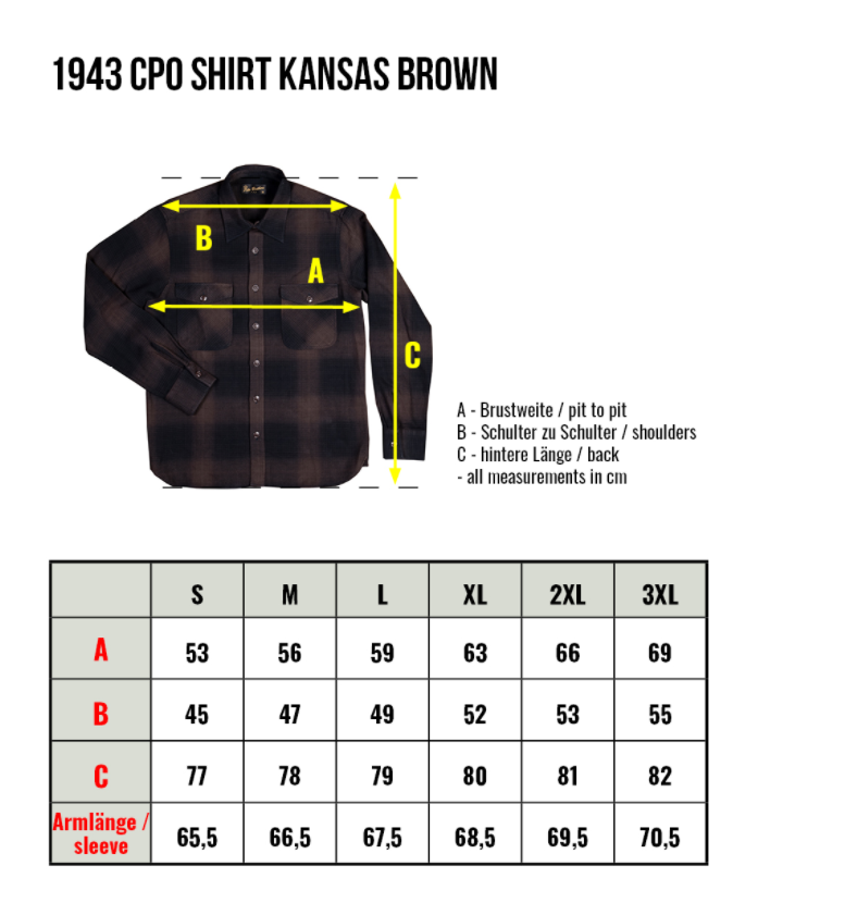 PIKE BROTHERS 1943 CPO SHIRT KANSAS BROWN