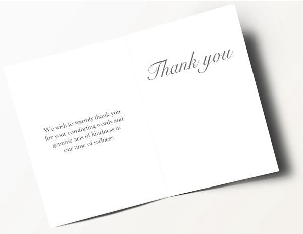 Honoured Heroes Thank You Card - Army