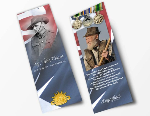 Honoured Heroes Bookmark - Army