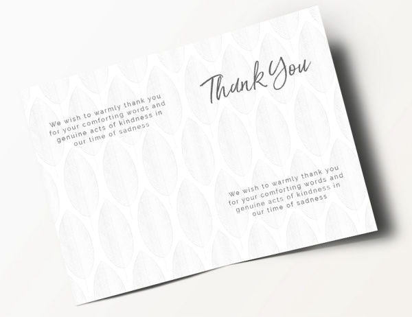 Contemporary Thank You Card 10