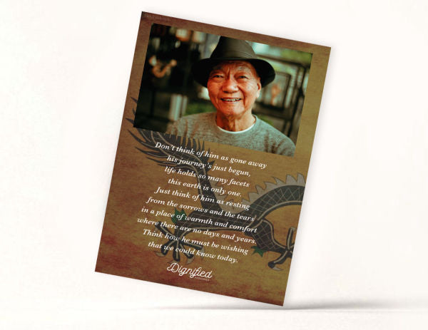 Chinese Memoriam Card 2