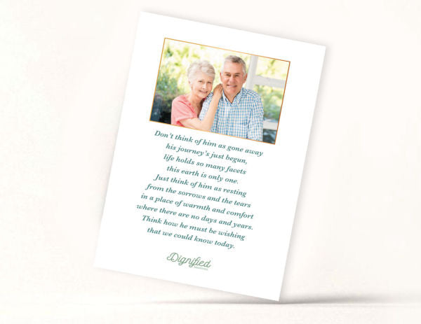 Contemporary Memoriam Card 5