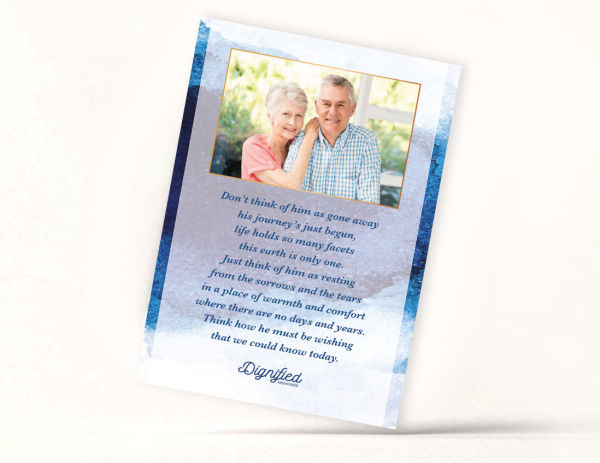 Contemporary Memoriam Card 7