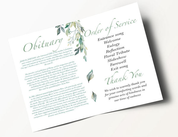 Contemporary Order of Service 5