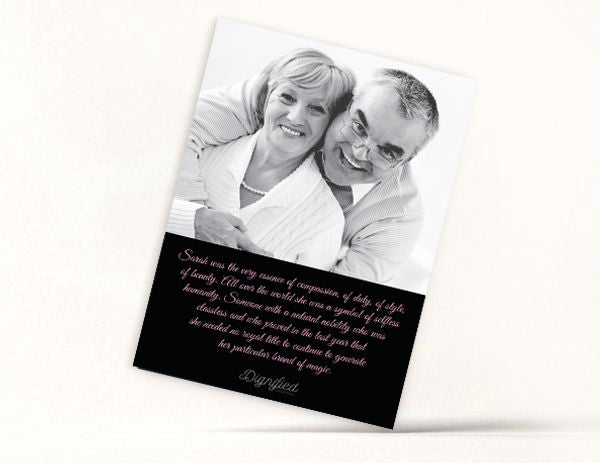 Contemporary Memoriam Card 11