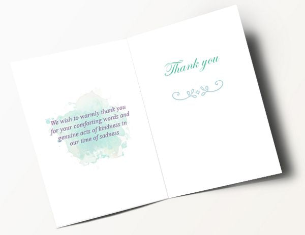 Floral Thank You Card 1