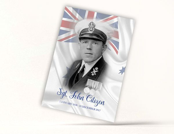 Honoured Heroes Memoriam Card - Navy