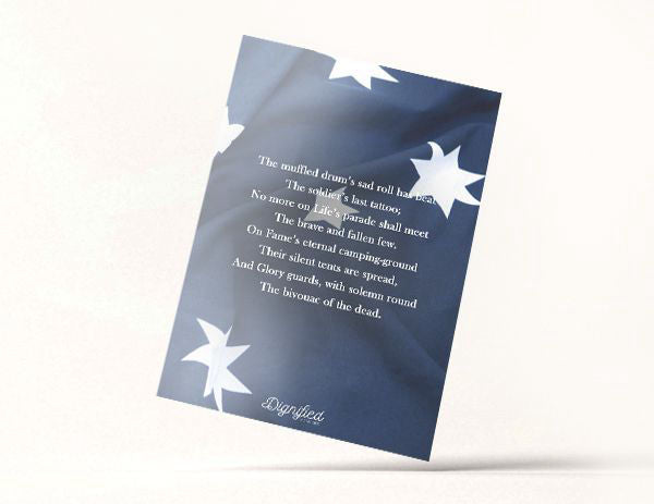 Honoured Heroes Memoriam Card - Army