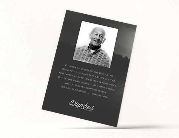 Contemporary Memoriam Card 2