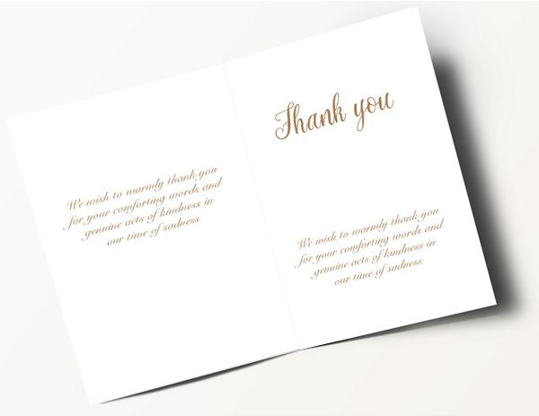 Traditional Thank You Card 1