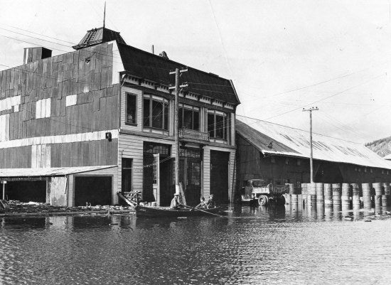Front Street during the Flood of May 1944
