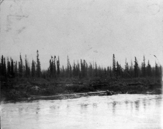 Cassiar Bar where Gold was first discovered on the Yukon River, 1898