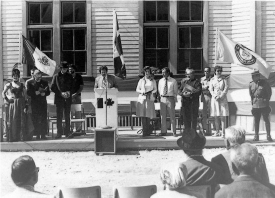 Dawson City Post Office Ceremony, 1975