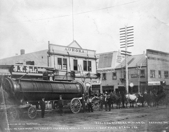 Hauling Machinery for Largest Dredge in World, c1898.