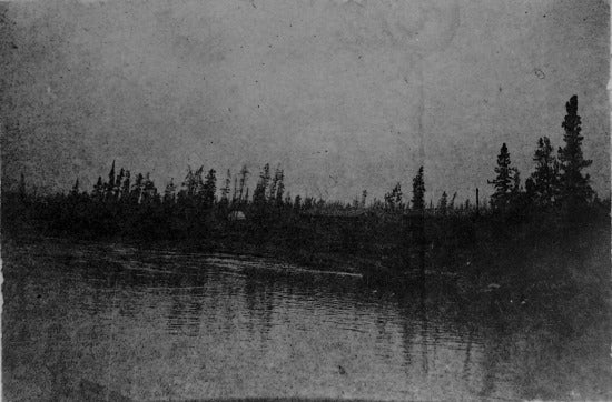 Landing place before starting to go through Miles Canyon, May 31, 1898