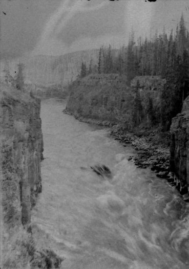 Driving Through Miles Canyon, June 5, 1898