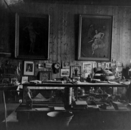 Dawson City Museum Exhibits in Old Fire Hall, Front Street, pre 1960