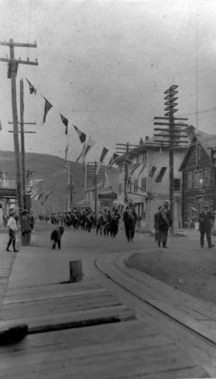 Yukon Order of Pioneers on King Street, August 17, 1920