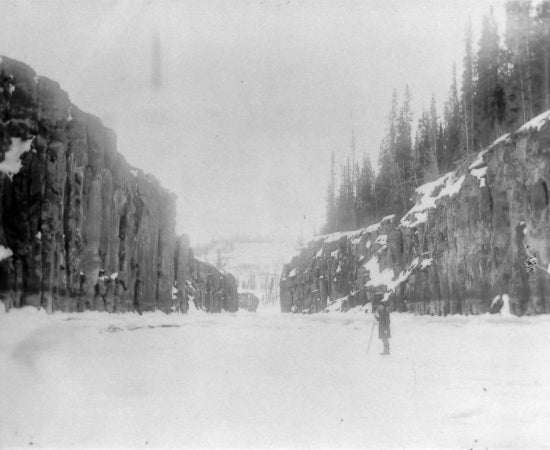Miles Canyon in Winter, c1913.